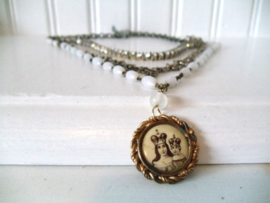 Mother Mary Vintage Necklace by Nostalgic Summer