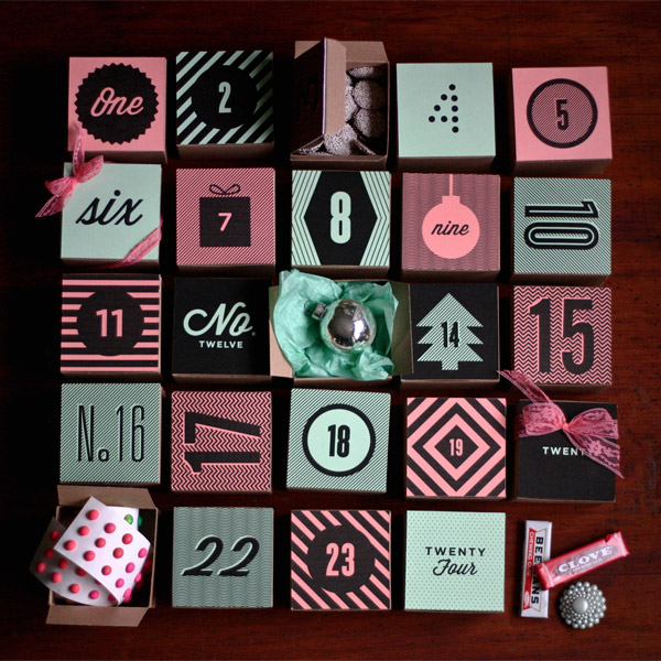 Printable Holiday Box Advent Calendar