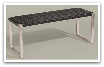 Woven Leather Bench Ethan Allen