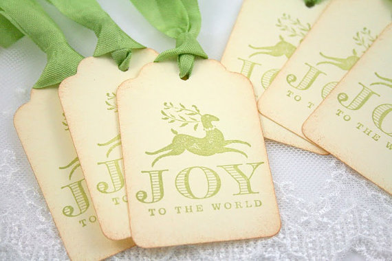 Reindeer Christmas Gift Tags on Etsy