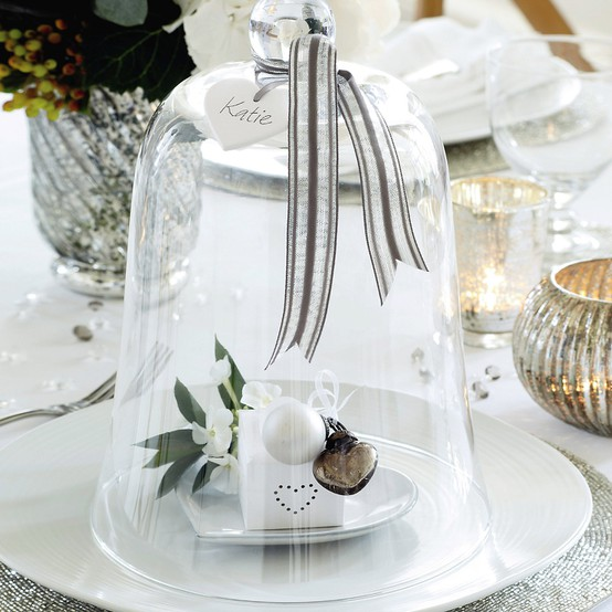 Place Setting Cloche for the Holidays via The White Company