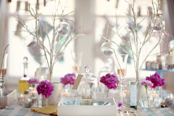 Modern Christmas Tablescape via Sitting in a Tree Events