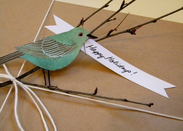 Bird Christmas Gift Tag - Carolyn's Homework