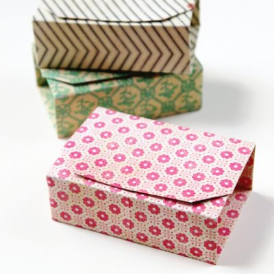 Gifts Almost Too Pretty to Open - Origami Boxes by Gathering Beauty