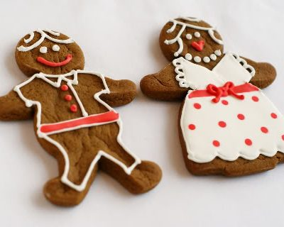 Christmas Gingerbread Cookies - Guys & Gals by Bake at 350