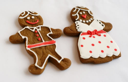 Christmas gingerbread cookies - guys and gals by Bake at 350