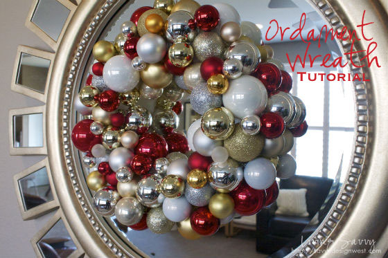 Red, Gold and Silver Shimmery Christmas Wreath - Living Savvy