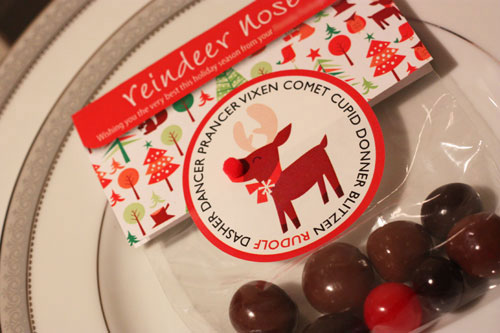 Reindeer Nose Party Favors with Printable
