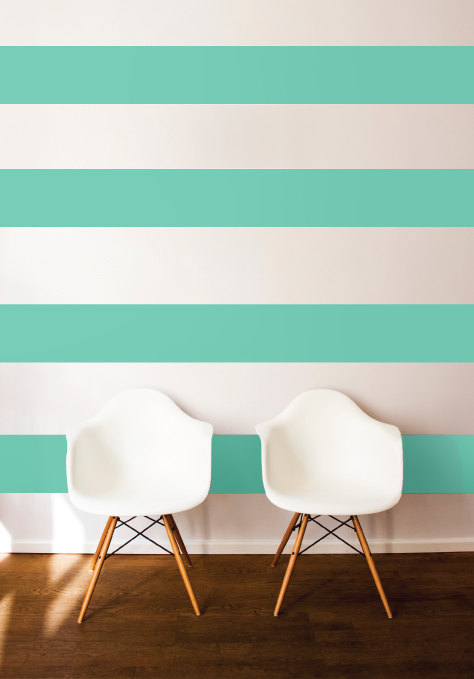 Add Horizontal Stripes to Your Walls - Dana Decals