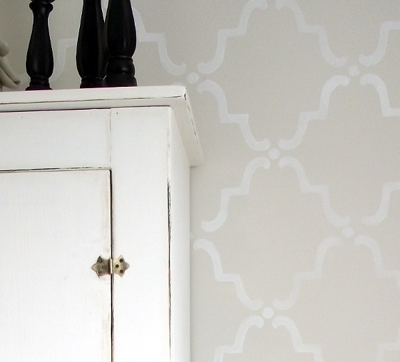 Bedroom Stencilled Wall - AKA Design
