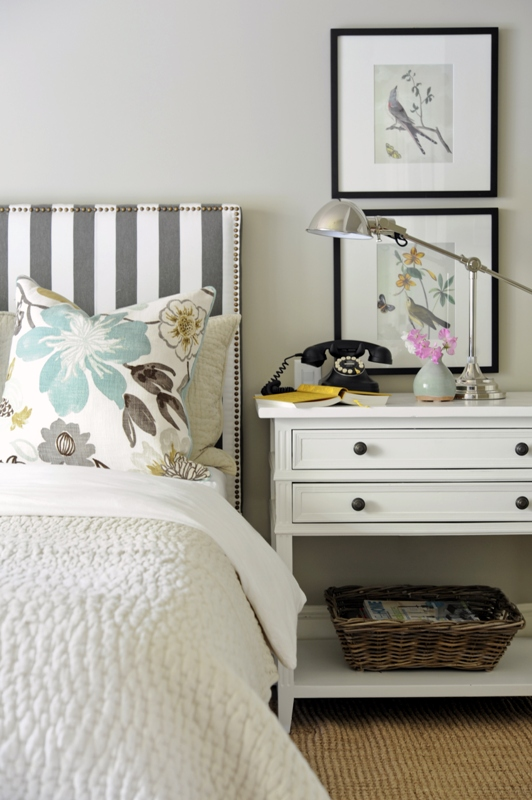 Bedroom with Upholstered Headboard - Kerrisdale Design