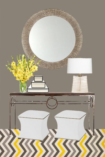 entryway console table design by Arianna Belle - Part of the Designer Challenge series on SatoriDesignforLiving.com