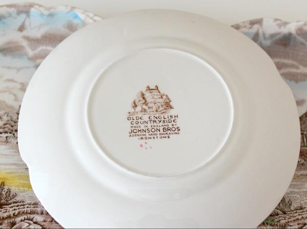 Ironstone Olde English Countryside Plate