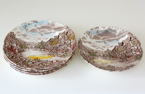Thrifty Finds - Olde English Countryside Plates