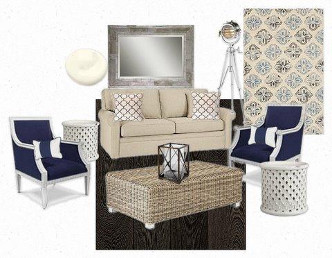 Seaside Inspired Living Room