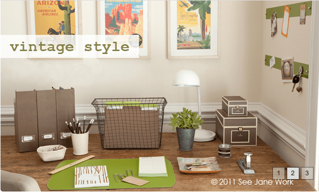 Vintage Style Office Collection via See Jane Work