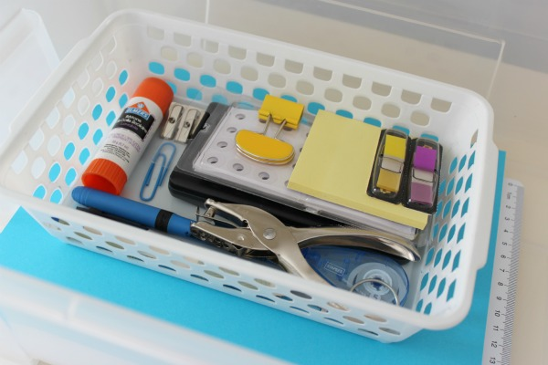 Organizing Tip - Create a Homework Supplies Tote