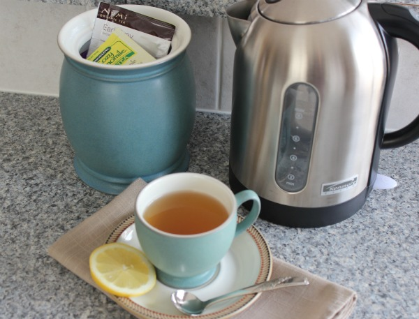 Organizing Tip - Keep Tea Collection Near the Tea Kettle