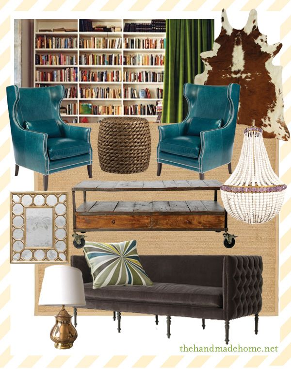 Handmade Home Industrial Chic Living Room - Part of the Designer Challenge Series hosted by Satori Design for Living