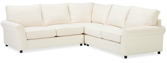 Shopping for a Sectional Sofa- Pottery Barn Comfort Roll Arm