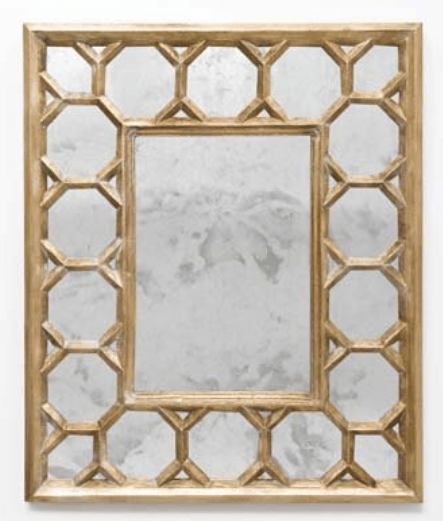 Rectangular Antique mirror via Shopten25.com