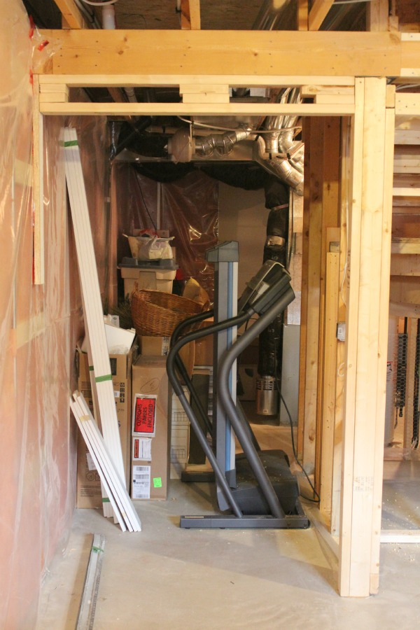 Basement Progress - Framing for Storage Room with Double Door Entrance
