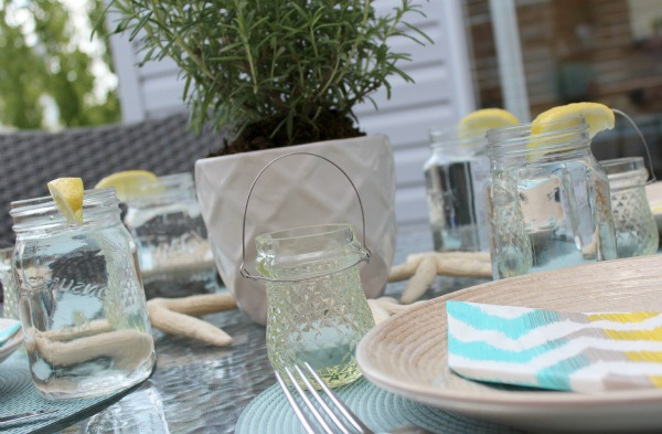 Candlelight for Outdoor Dining - Glass Tea Light Holders