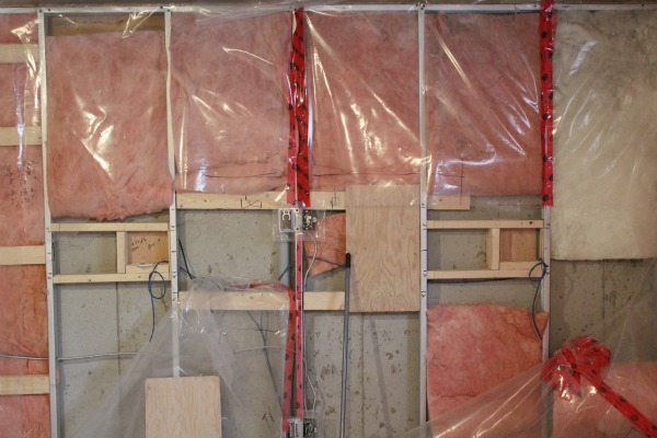 Basement Renovation Progress - How to Provide Extra Support Framing for a Wall Mounted TV