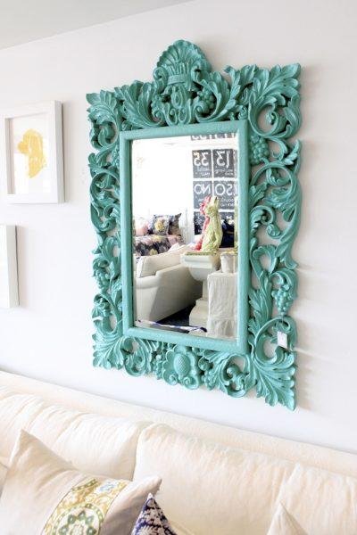 Tiffany Blue Mirror - Photo via Night Moves