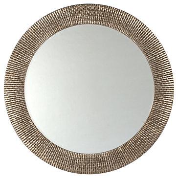 bergmann round mirror - antique silver - ZGallerie