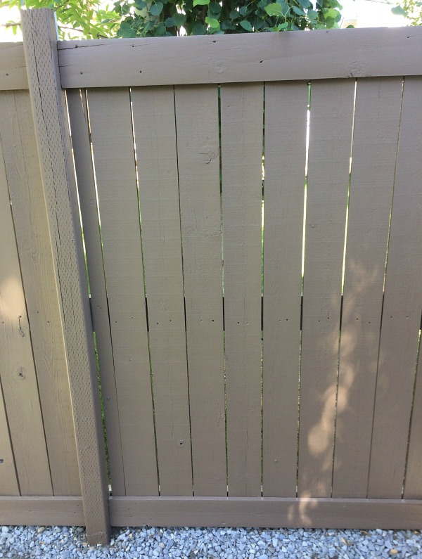 Behr Tugboat Stain on Fence