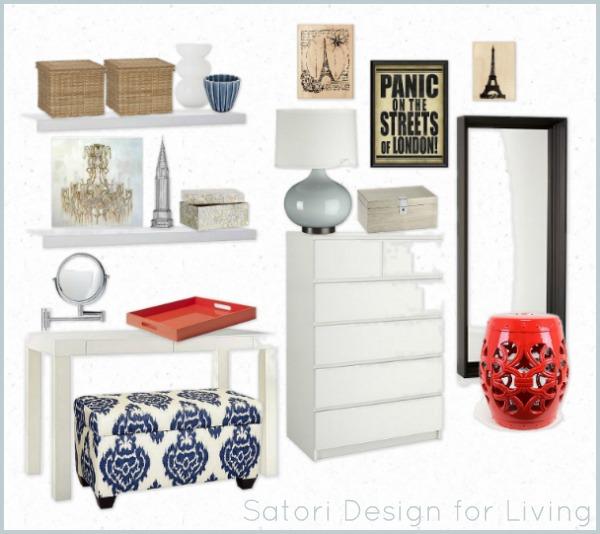 Small Bedroom Design - Mood Board by Satori Design for Living