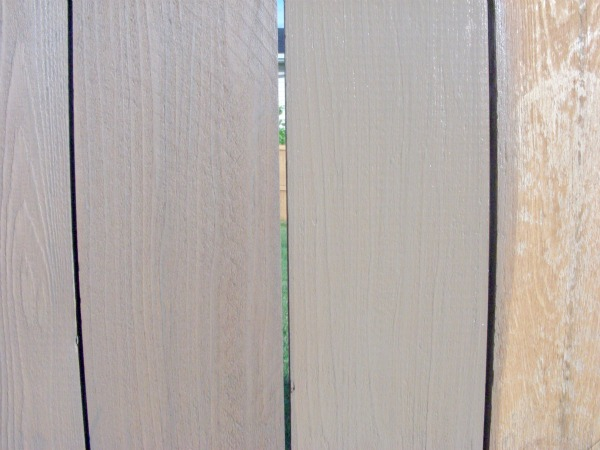 Selecting Fence Stain - Wet vs. Dry Stain in Tugboat by Behr
