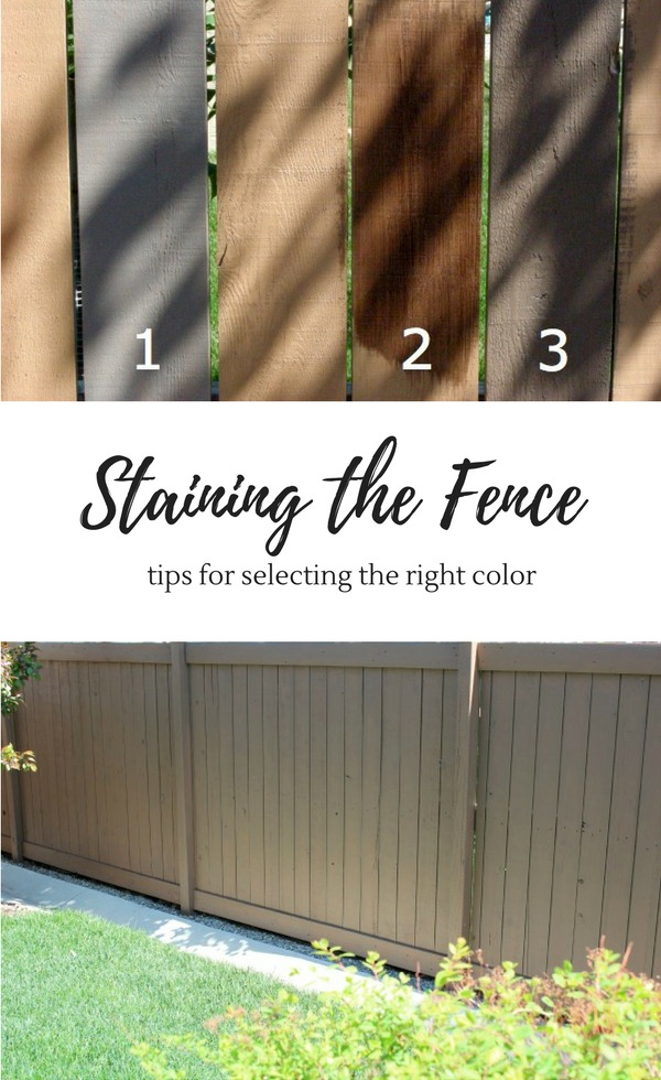 Staining the Fence - Tips for Selecting the Right Color - Grey Brown Fence Stain