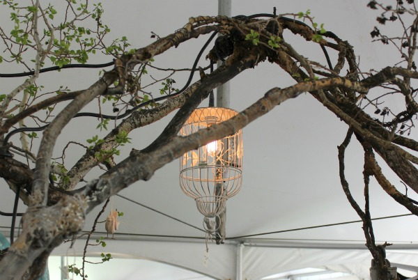The Vintage Chicks Sale- Birdcage Chandelier Hanging from Branches