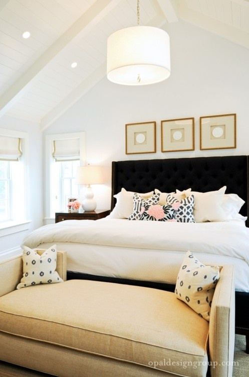 styling a bed - bedroom by Opal Design Group