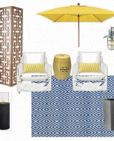 Zen Oasis Outdoor Room Mood Board for the Designer Challenge Hosted by Satori Design for Living