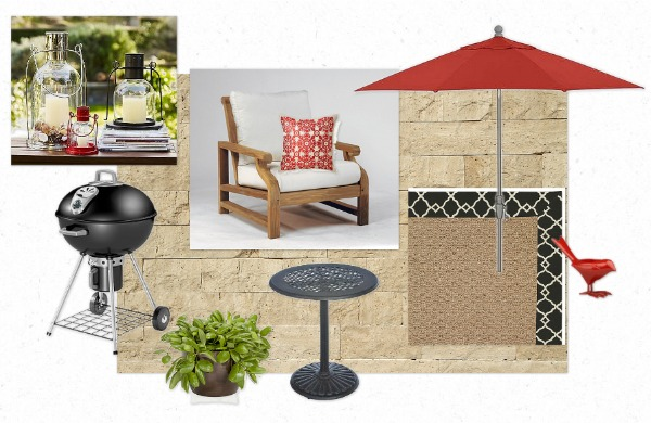 Caliente Patio Outdoor Space Mood Board for the Designer Challenge hosted by Satori Design for Living