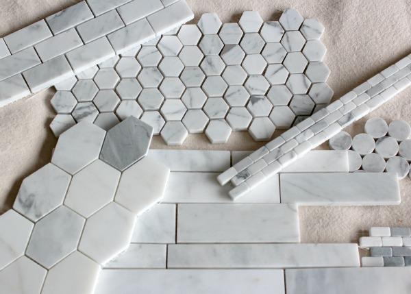 Marble Backsplash Tile Options for Our Basement Family Room Snack Bar