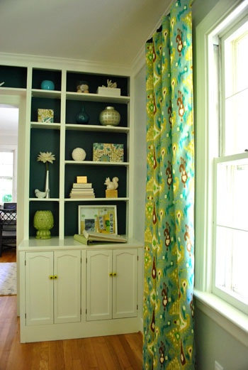 Young House Love Built-ins Paint Color- Benjamin Moore Dragonfly - Bloggers' Favorite Paint Colors Series