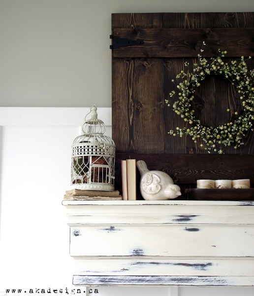 Analytical Gray Paint Color by Sherwin Williams - Spring Mantel by aka design