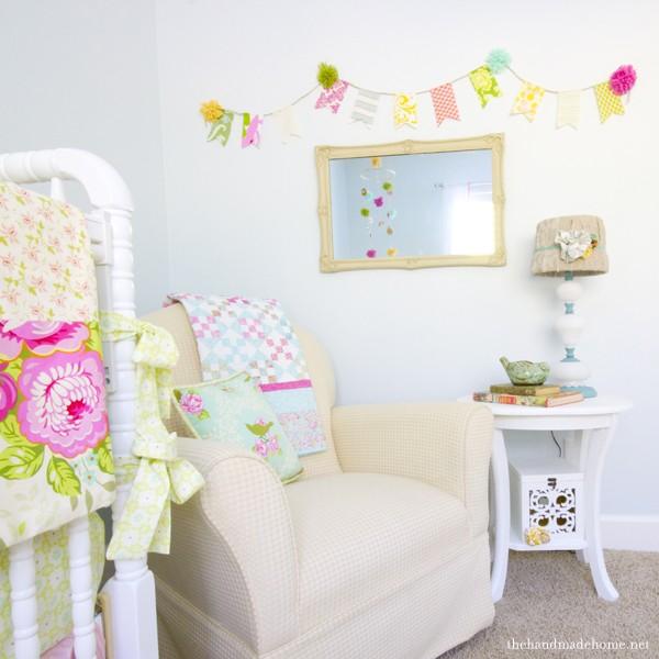 Nursery Painted in Benjamin Moore Whispering Spring - The Handmade Home