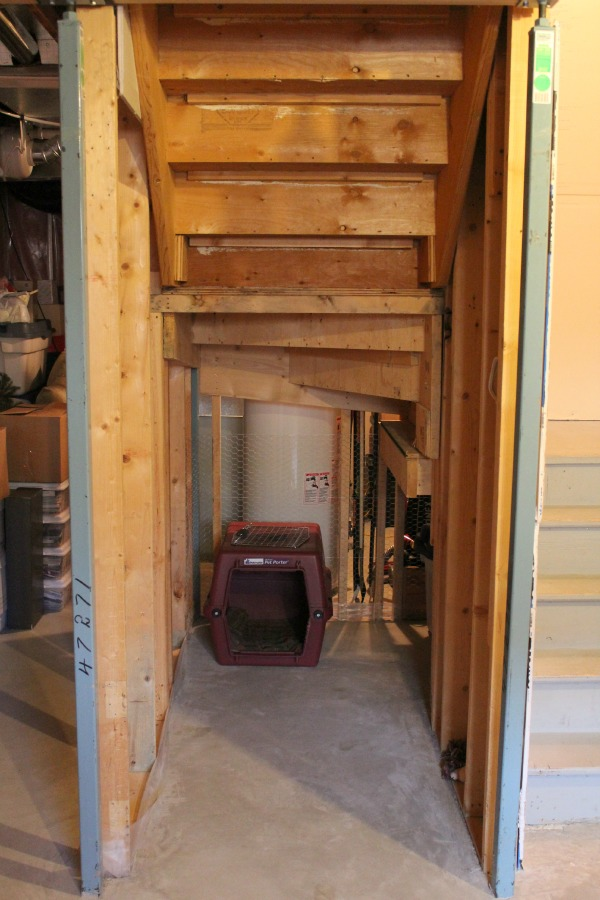 Finishing Our Basement - Area Under Basement Stairs BEFORE