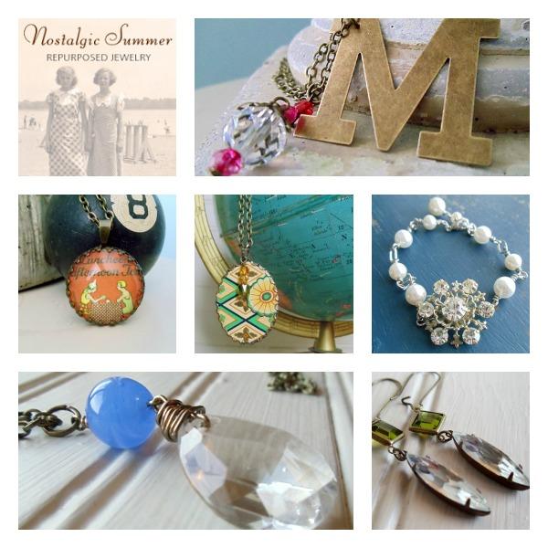 Workspaces That Inspire - Nostalgic Summer Vintage Jewelry Studio - Upcycled Jewelry