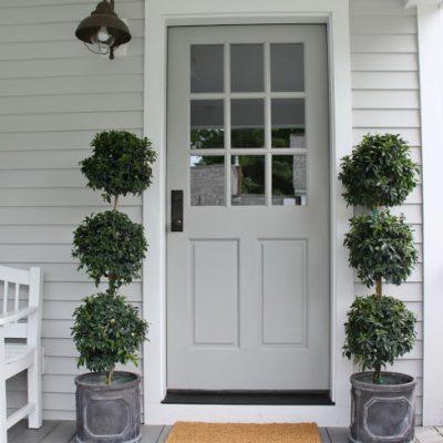 Soft Grey Front Door - Henhurst Interiors