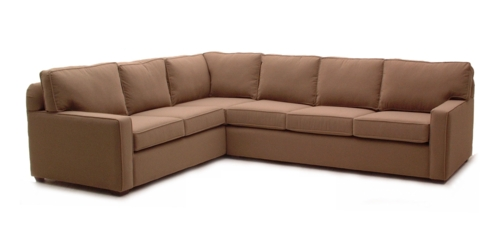 Square Arm Sectional by Whittaker Designs - Family-friendly Upholstery Fabrics