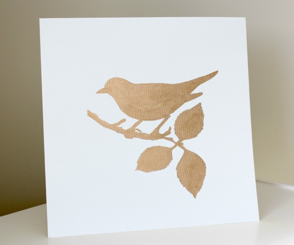 How to Create Your Own Gold Gilded Bird Art - DIY Art Project