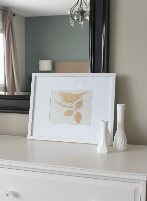 Gold Gilded Bird Art - DIY Art Project - Satori Design for Living
