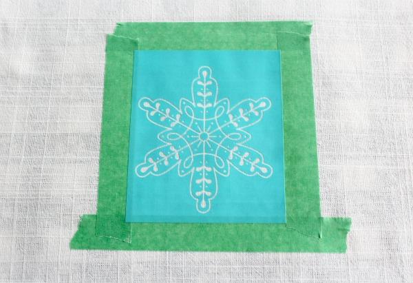DIY SIlkscreening on Tea Towel
