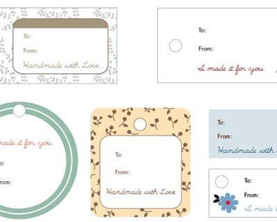 Handmade Gift Tag Printables - Sew Mama Sew